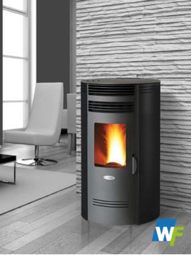 BIO 80Q Round - Pellet Stove - Roomheater - Freestanding
