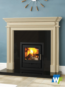 Davenport: Ivory Pearl Fireplace