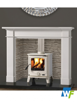 Abbey: Alpine White Fireplace
