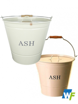 Taupe/Cream Ash Bucket with Lid