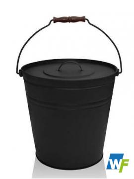 Matt Black Coal Bucket with Lid