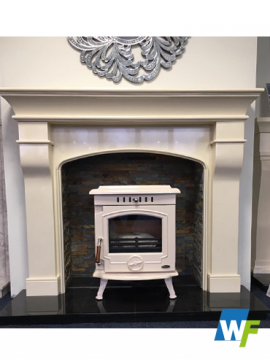 Montpeiller: Ivory Pearl Fireplace