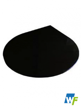 Teardrop Black Granite Hearth